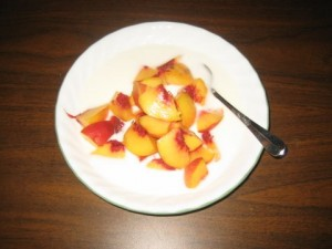 Peaches & yogurt, yum!