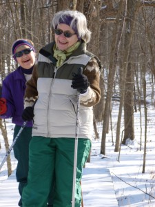 Jody & Deb Cross Country Skiing