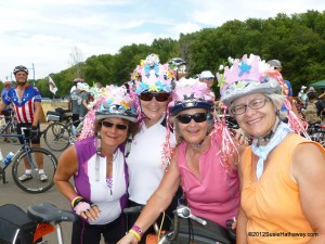 Over 60? Gotta dress up! Biking in RAGBRAI 2012 (Register's Annual Great Bicycle Ride Across Iowa)