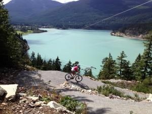 Biking above Greenlake, Whistler, BC