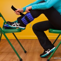 Remember to keep good posture when putting on your ankle weights!